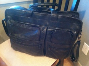 Tumi Expandable Leather Laptop Bag